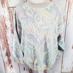 Vintage 80's PLUS pastel geometric sweater